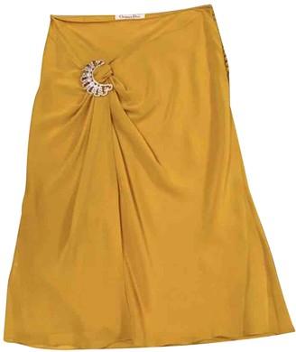 Christian Dior Yellow Silk Skirt for Women Vintage
