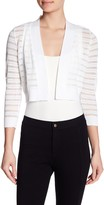 Calvin Klein Shadow Stripe 3/4 Sleeve Shrug