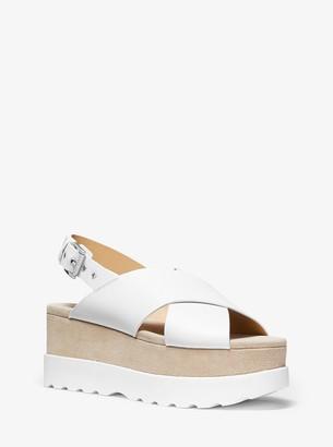 MICHAEL Michael Kors Becker Leather Flatform Sandal