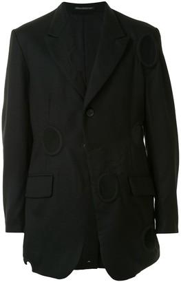 Yohji Yamamoto Unisex Cut-Out Wool Blazer
