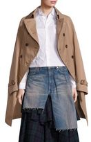 Junya Watanabe Twill Cape Trench Coat