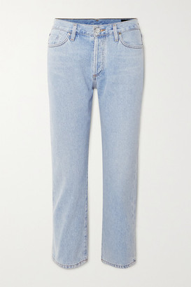 Gold Sign + Net Sustain The Low Slung Cropped Mid-rise Straight-leg Jeans - Light denim