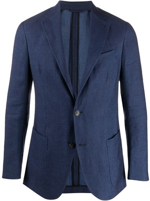 Ermenegildo Zegna Single-Breasted Formal Blazer