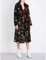 Helmut Lang Ladies Light Brown Tortoise-Pattern Faux-Fur Coat