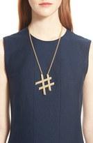 Lanvin 'Hashtag' Pendant Necklace