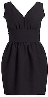 MSGM Women's V-Neck Cinched Waist Balloon Dress