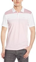 Calvin Klein Men's Short Sleeve Engineered Stripe Polo with Logo