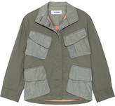 Tim Coppens Shell-paneled Stretch-cotton Jacket - Army green