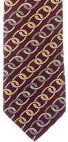 Gucci Link Print Silk Tie