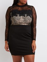 Charlotte Russe Plus Size Lace & Crochet Bodycon Dress