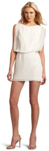 Laundry by Shelli Segal Women's Beaded Band Blouson Cocktail Dress