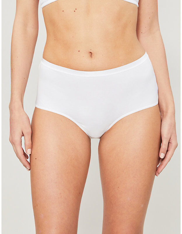 Thumbnail for your product : Hanro Seamless high-rise jersey briefs