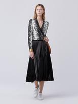 Diane von Furstenberg New Jeanne Wrap Bodysuit