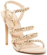 Liliana Golden Chain Link Stiletto Sandal