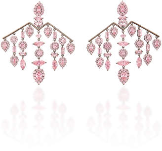 Fallon Versailles Silver-Plated Crystal Chandelier Earrings