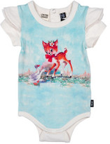 Rock Your Baby Girls Doe A Deer Short Sleeve Bodysuit (3M-2Y)