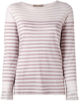 Cruciani striped knitted top