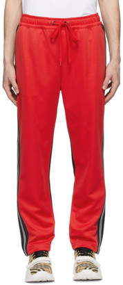 Burberry Red and Black Enton Track Pants