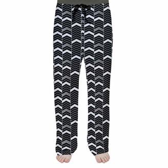 ArtVerse Rhonda Cheval Single Color Lined Chevrons Men's Pajama Pants X Small