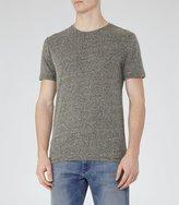 Reiss Barnington - Flecked Crew-neck T-shirt in Green, Mens
