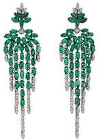 Carla Amorim 18K Emerald & Diamond Black Label Drop Earrings