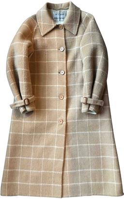 Non Signã© / Unsigned Oversize Beige Wool Coats