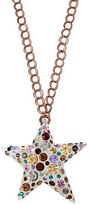 Betsey Johnson Mixed Stone Lucite Star Pendant Long Necklace