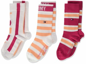 Tommy Hilfiger Girl's Th Kids Sock 3p Giftbox Calf
