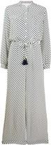 Tory Burch tassel-detail striped jumpsuit