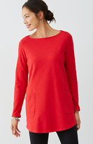 J. Jill Pure Jill Sueded Curved-Hem Tunic