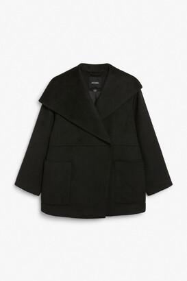 Monki Oversized shawl collar coat