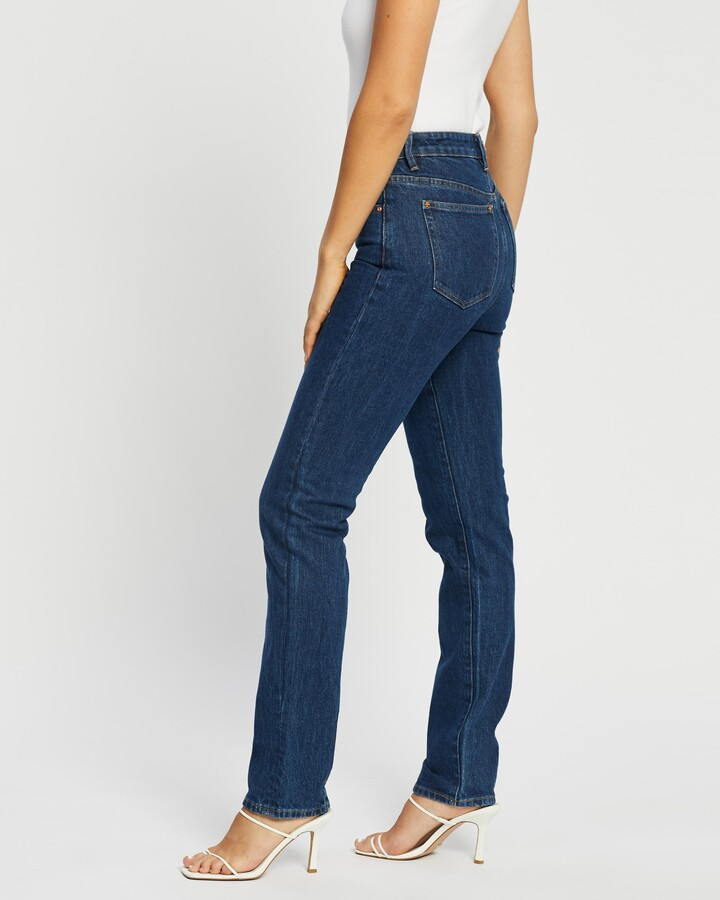 Thumbnail for your product : Neuw Women's Blue Straight - Marilyn Straight Jeans - Size 24 at The Iconic