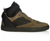 Balenciaga Multi-panel High-top Suede Trainers