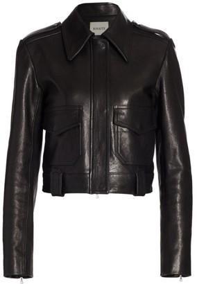 KHAITE Cordelia Moto Leather Jacket