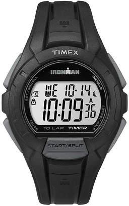 Timex Ironman Mens Black Resin Strap 10-Lap Sport Watch TW5K94000