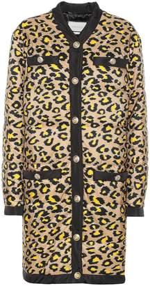 Gucci Padded leopard-print coat