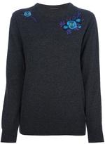 Christopher Kane embroidered floral jumper