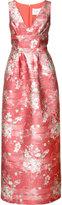 Carolina Herrera floral jacquard gown - women - Silk/Polyamide/Polyester/Metallic Fibre - 14
