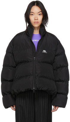Balenciaga Black BB C-Shape Puffer Coat