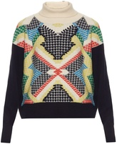 BARRIE Primary Pixels cashmere sweater