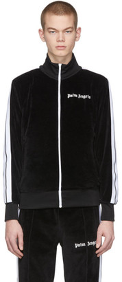 Palm Angels Black Chenille Track Jacket