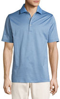 Peter Millar Ophelia Jacquard Cotton Lisle Polo Shirt, Blue