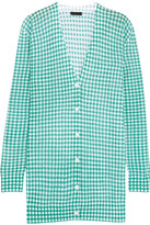 J.Crew Gingham Cotton-blend Cardigan - Jade