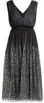 No.21 No. 21 - Pleated Floral-print Chiffon Dress - Womens - Black Multi