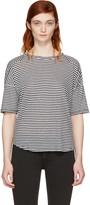 Rag & Bone White and Navy Striped Valley T-shirt