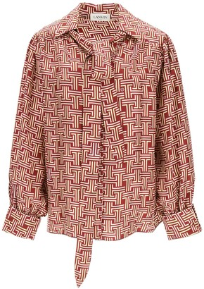 Lanvin Monogram Printed Blouse