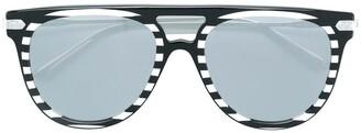Calvin Klein Striped Sunglasses