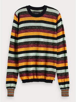 Maison Scotch Striped Lurex Pullover - Size XS