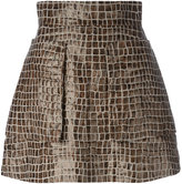 Vivienne Westwood crocodile print A-line skirt - women - Linen/Flax/Polyurethane - 44