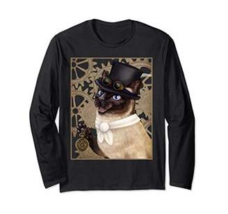 Steampunk cat - Siamese with a top hat